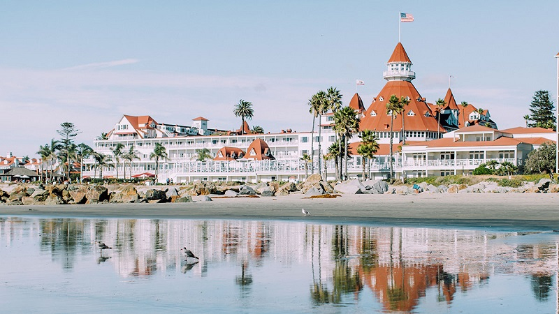 Praia Coronado em San Diego - Califórnia