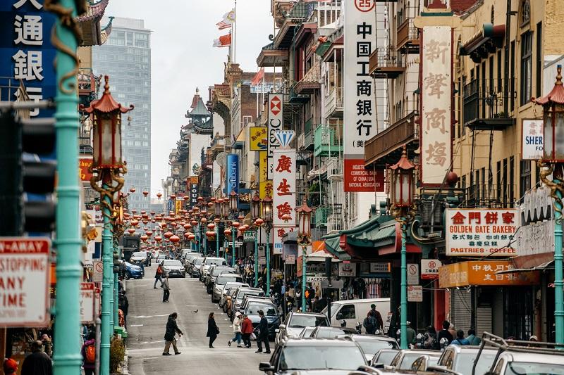 Região de Chinatown em San Francisco