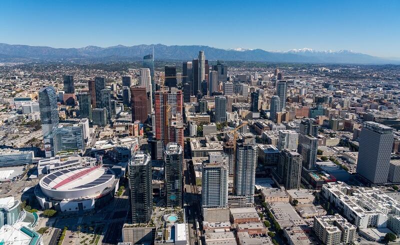 Região de Downtown em Los Angeles