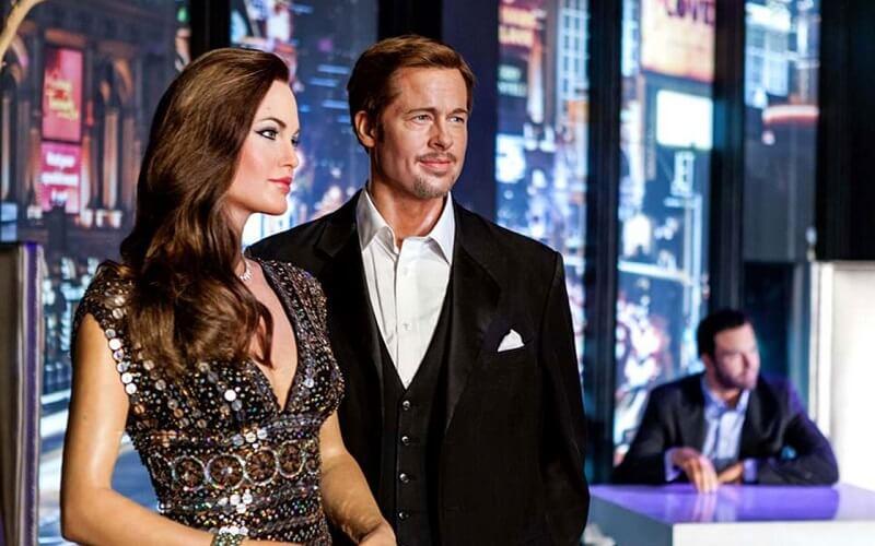 Angelina Jolie e Brad Pitt - Bonecos de Cera em Los Angeles