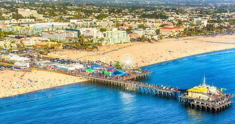 Santa Mônica Beach na Califórnia