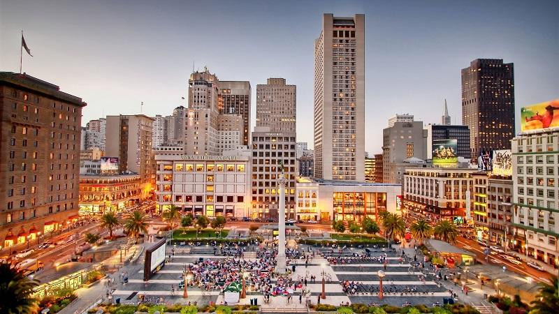 Área da Union Square em San Francisco