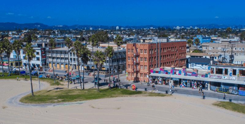 Região de Venice Beach em Los Angeles
