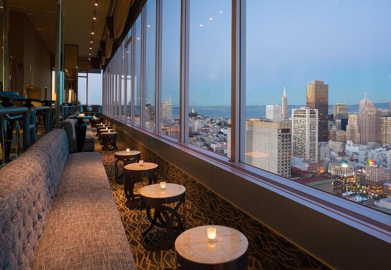 Vista do Hotel Hilton na Union Square San Francisco