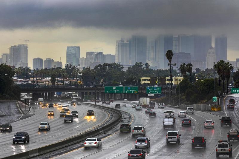 Clima chuvoso em Los Angeles - Califórnia