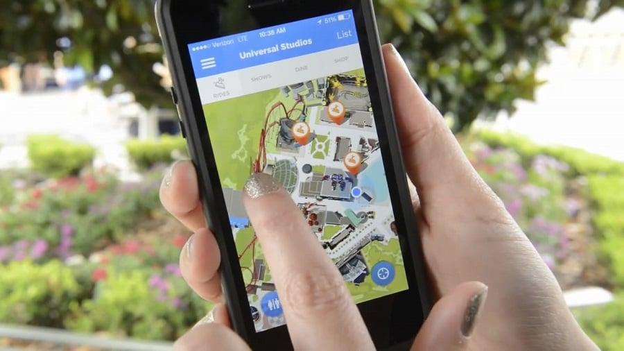 Aplicativo de celular do Parque Universal Studios Hollywood