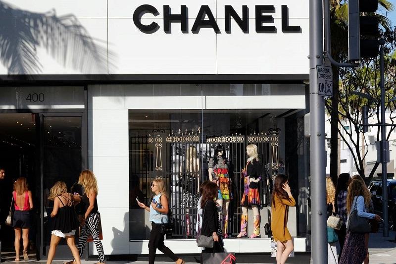 Chanel na rua Rodeo Drive em Los Angeles