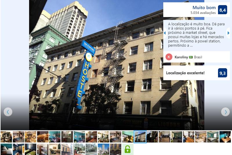 Fachada do HI San Francisco Downtown Hostel