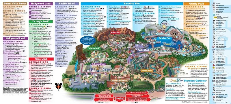 Disney California Adventure Park - Mapa