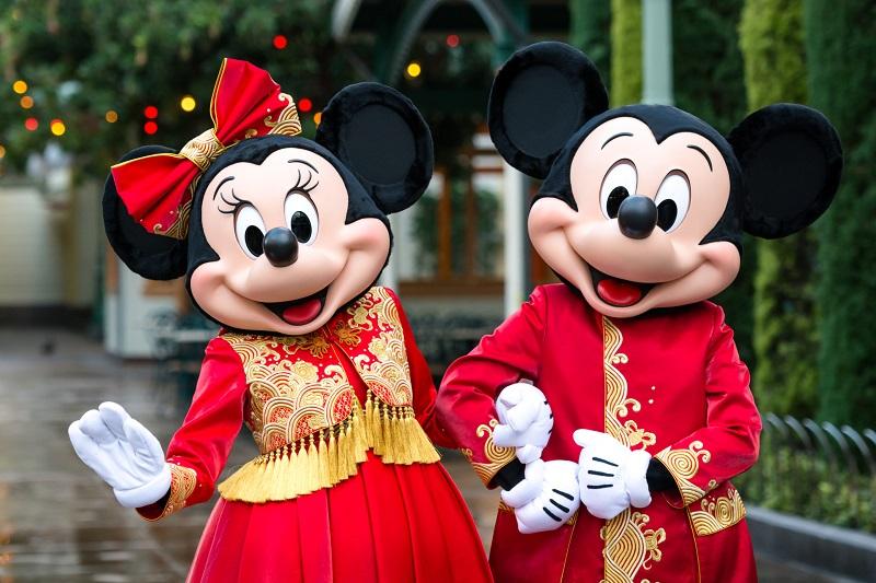Mickey e Minnie no Parque Disneyland California