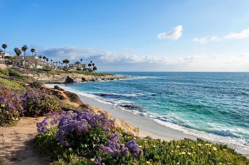 Cenário praiano de San Diego