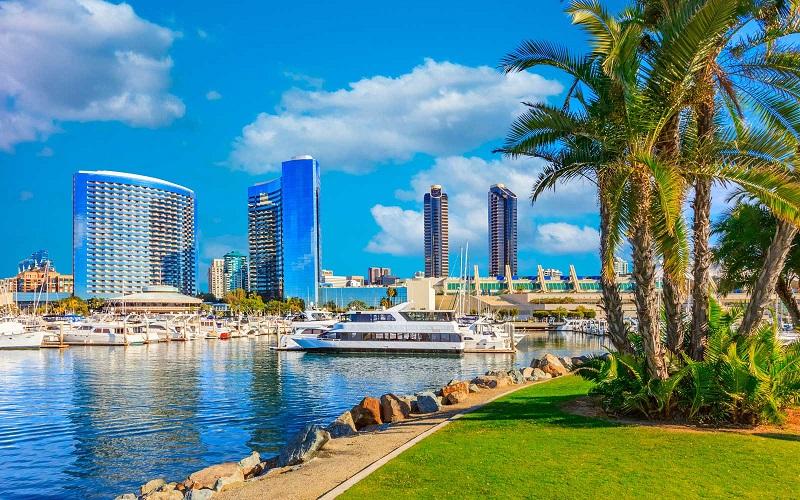 Clima ensolarado em San Diego