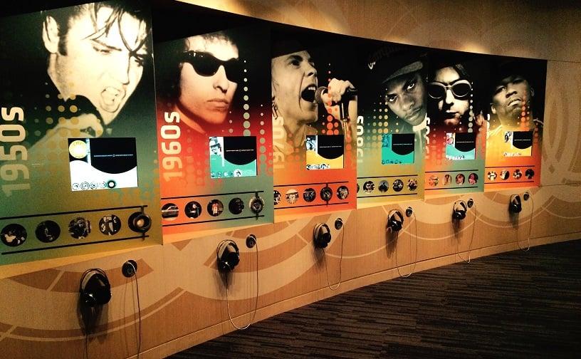 Salas do Museu do Grammy em Los Angeles