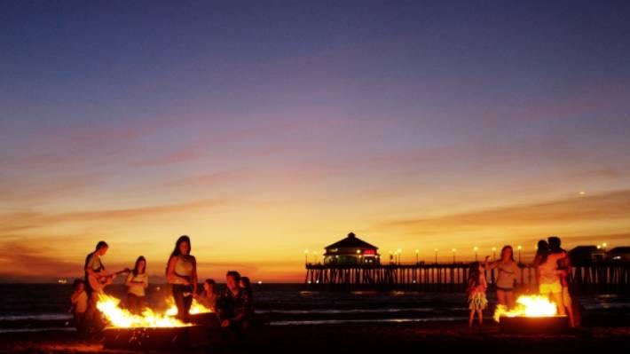 Atrativos na Huntington Beach na Califórnia