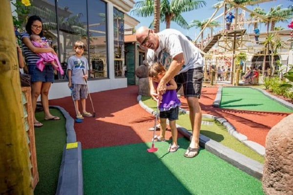 Atrações no Belmont Park em San Diego