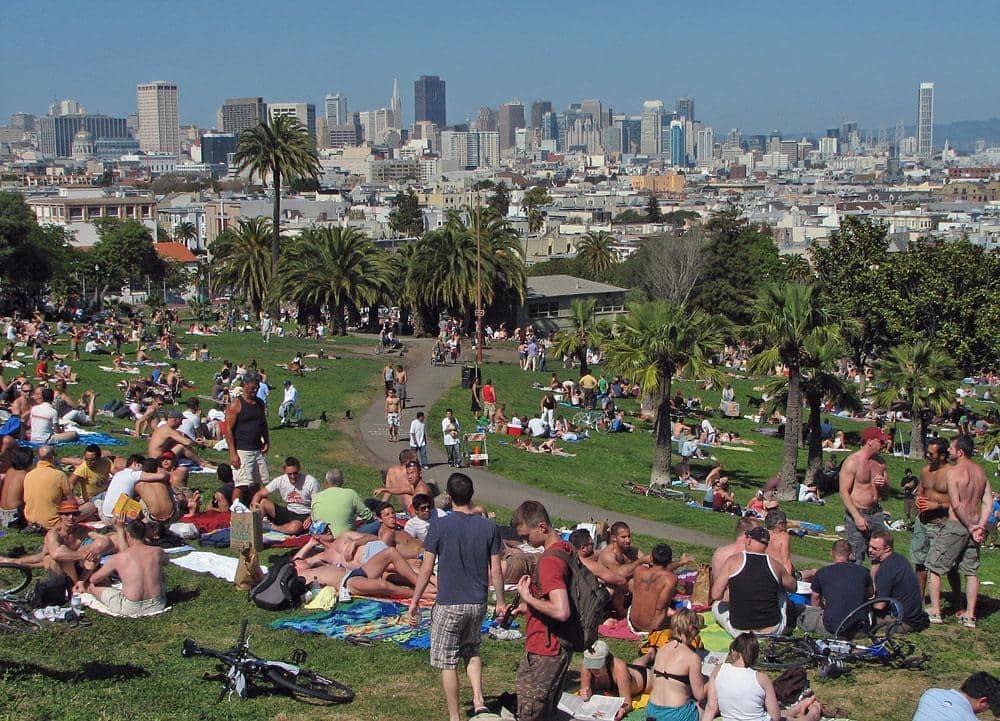 Informações sobre o Dolores Park em San Francisco