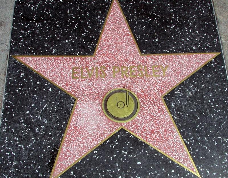 Elvis Presley na Calçada da Fama em Los Angeles