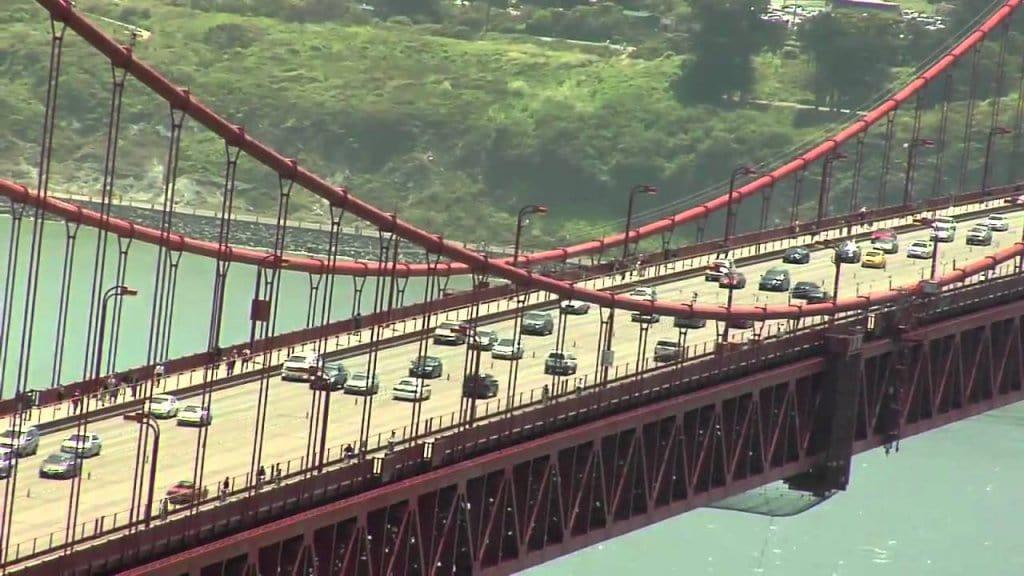 Pedágio na Ponte Golden Gate em San Francisco