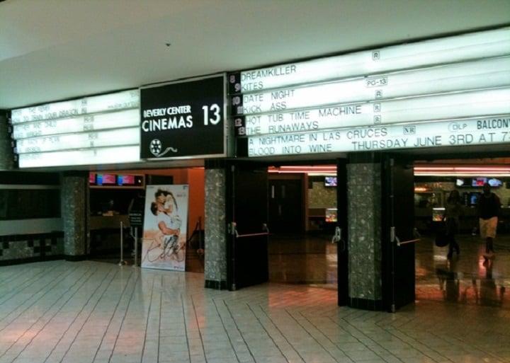Cinema no Beverly Center em Los Angeles