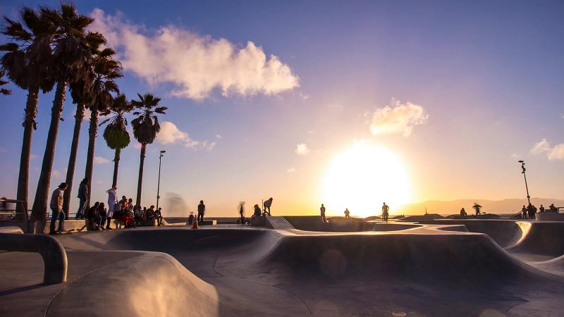 Venice Beach Skate Park em Venice Beach