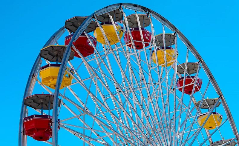 Roda gigante no Píer de Santa Mônica