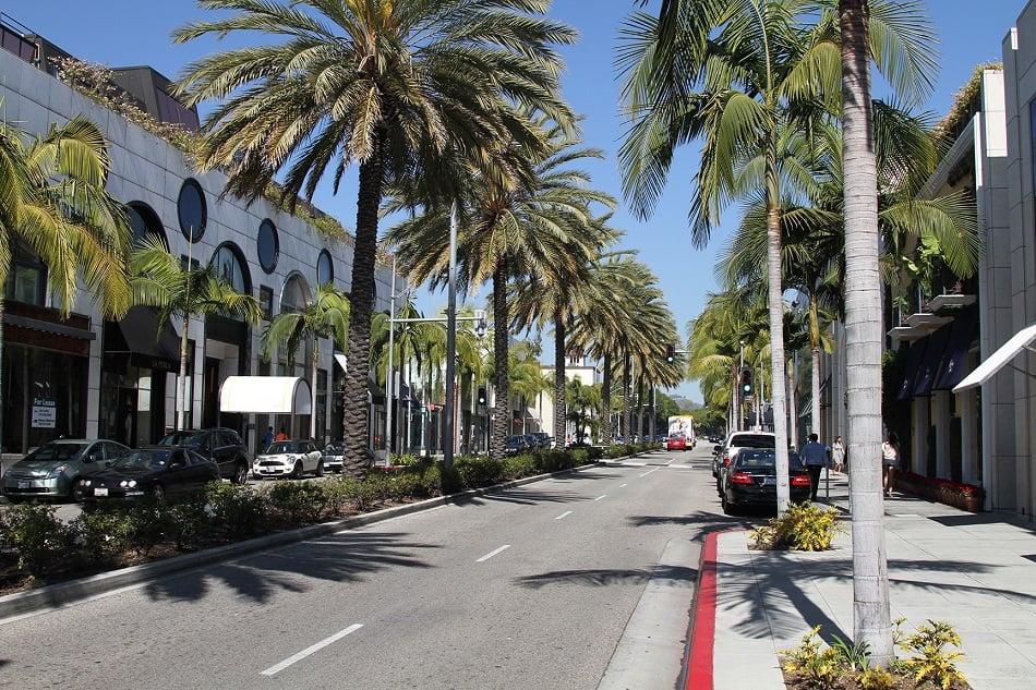 Curtindo a noite em Beverly Hills em Los Angeles