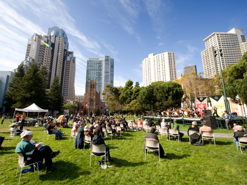 Passeio pelo Yerba Buena Gardens em San Francisco