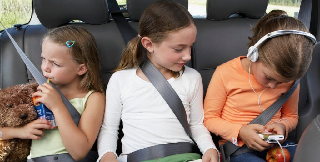 Cuidados com as crianças no carro