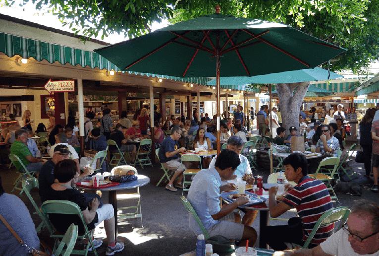 Restaurantes no Mercado Farmers em Los Angeles