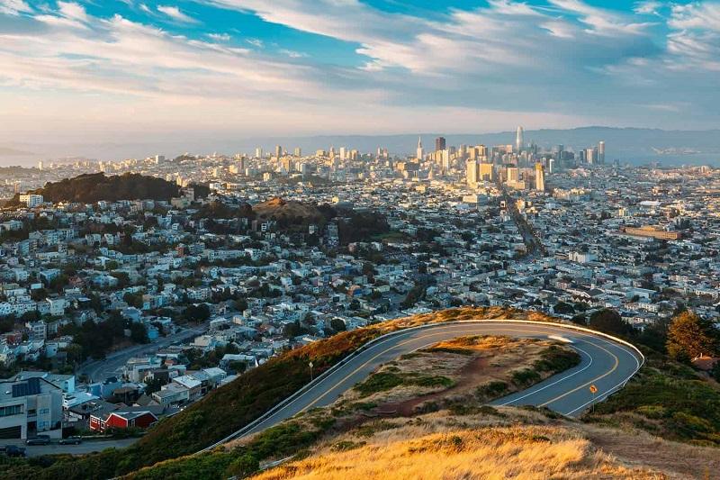 Panorâmica da cidade de San Francisco
