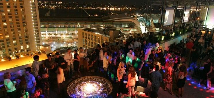 Bar Altitude Sky Lounge na região de Gaslamp Quarter em San Diego
