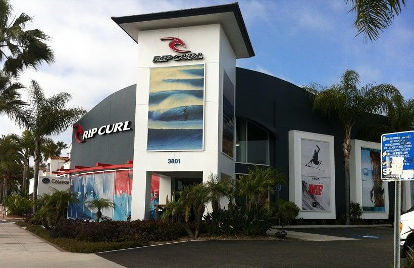 Outlet Rip Curl para a compra de pranchas e acessórios de surf na Califórnia