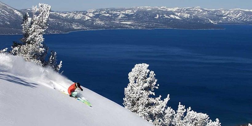 Esquiar em Heavenly em Lake Tahoe na Califórnia