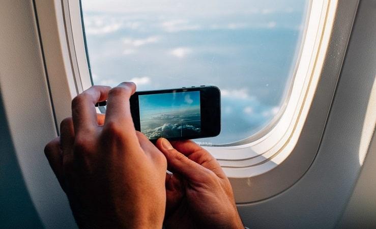 Paisagem vista da janela do avião