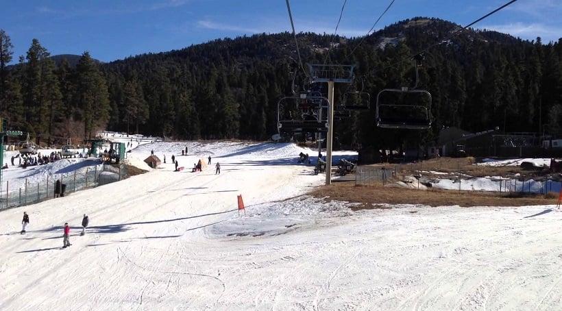 Esquiar em Big Bear e Snow Summit em Lake Tahoe na Califórnia