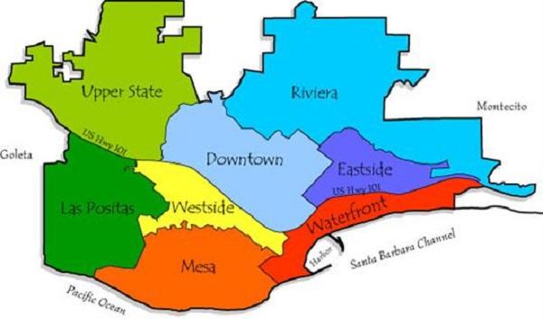 Mapa de onde ficar em Santa Bárbara: melhores regiões