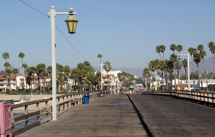 East Beach e Stearns Wharf em Santa Bárbara