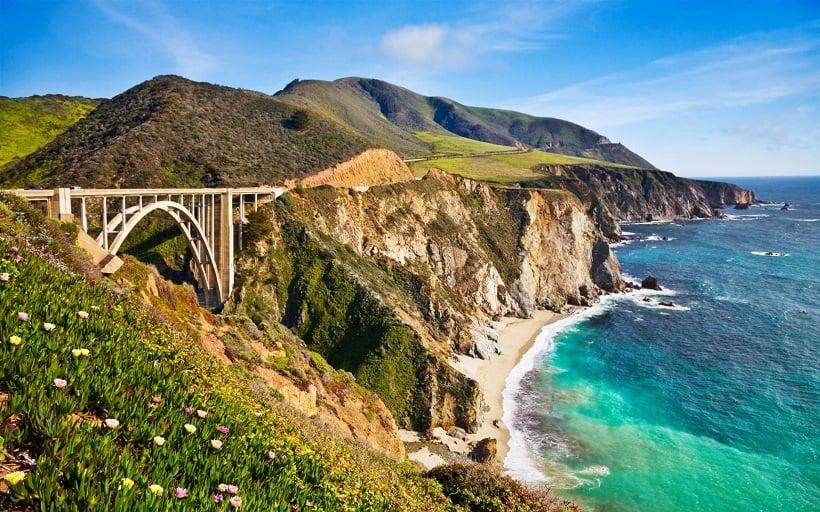 Pontes em Big Sur na Califórnia