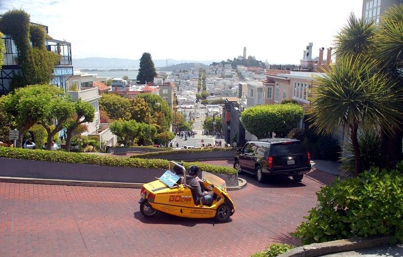 Lombard Street em San Francisco na Califórnia
