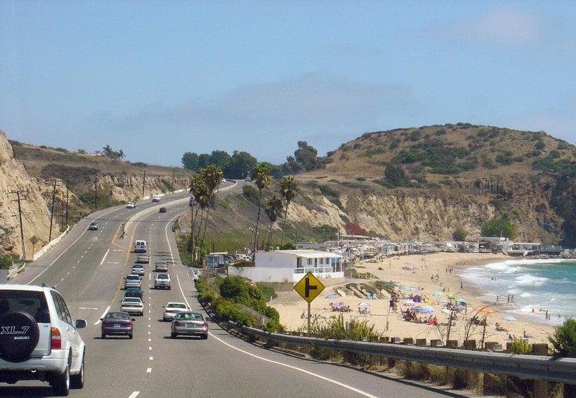 Viagem de carro pelas praias da Califórnia