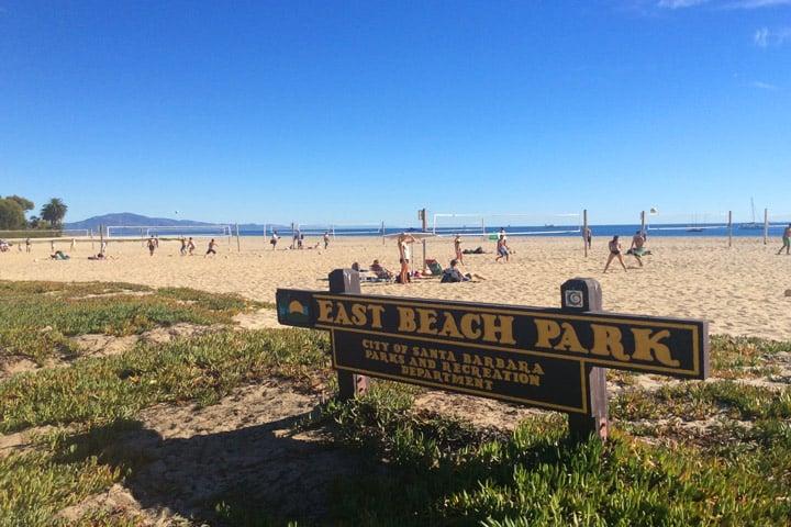 East Beach em Santa Bárbara