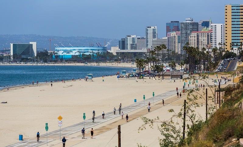 Entretenimento e diversão na praia de Long Beach