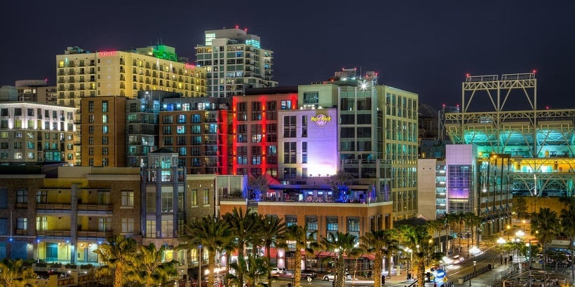 Pontos turísticos em San Diego