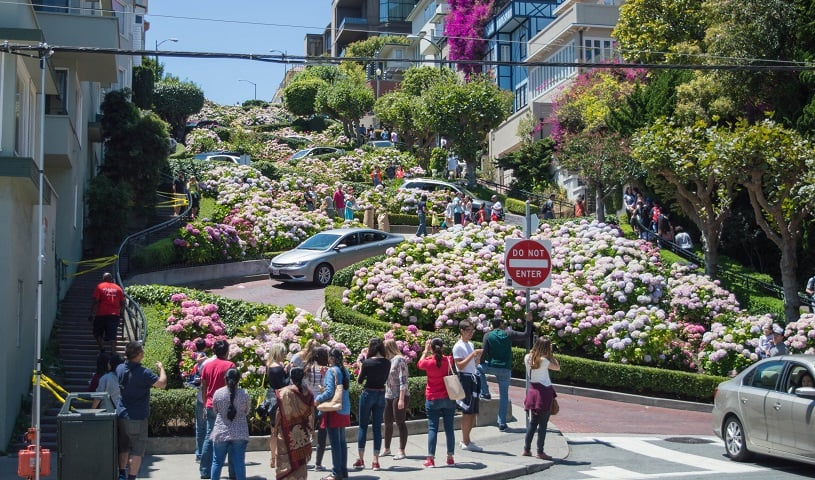 Fotos na Lombard Street em San Francisco
