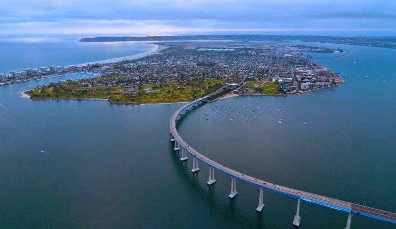 Coronado Bridge em San Diego