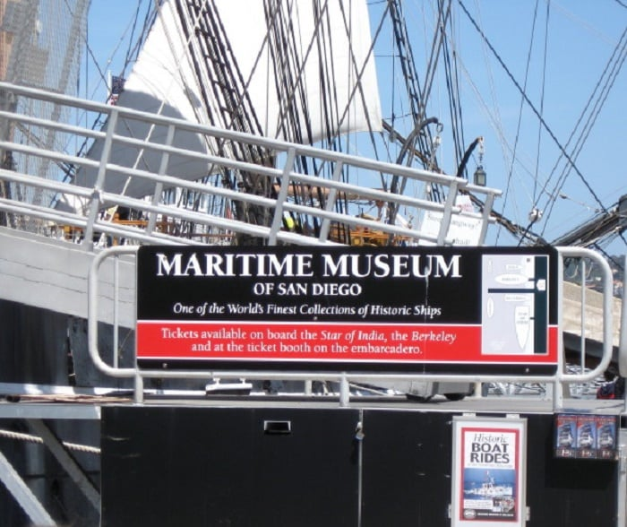 Informações sobre o Museu Marítimo de San Diego