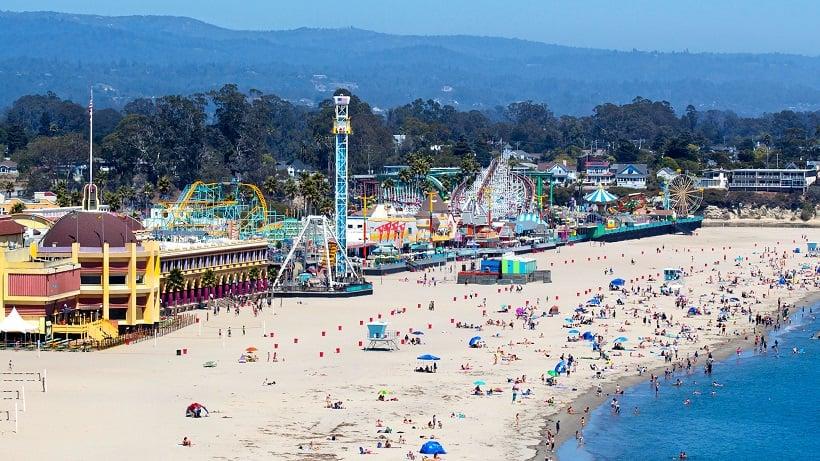 Parque Santa Cruz Beach Boardwalk na Califórnia