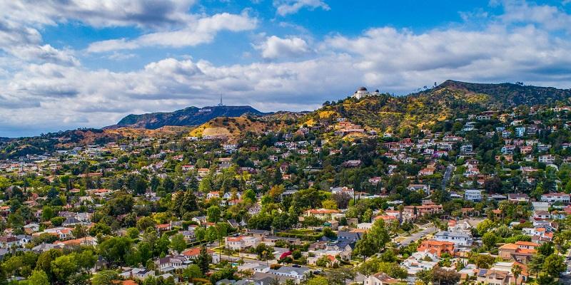 Panorâmica de Hollywood em Los Angeles