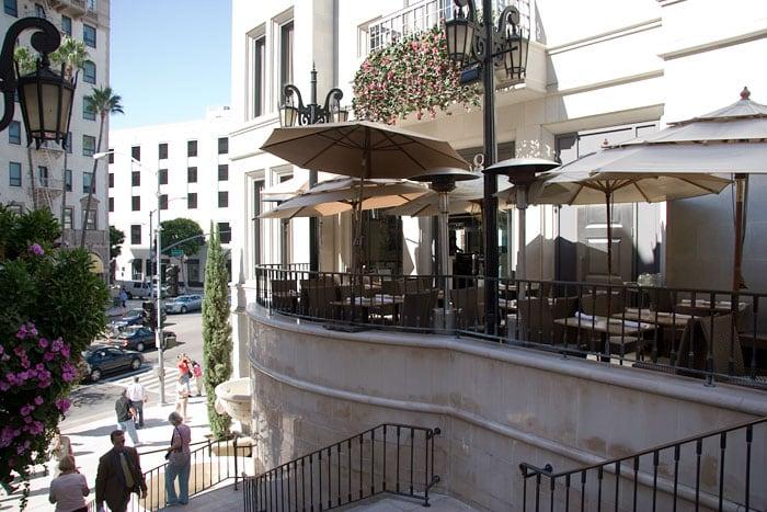 Restaurantes na rua Rodeo Drive em Los Angeles