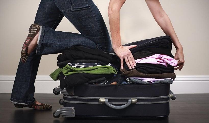 Questão das malas em uma viagem para o exterior